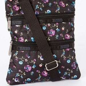 LeSportsac Black Hope Rose Kasey Crossbody